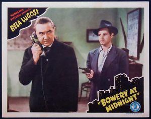 BOWERY AT MIDNIGHT (1943) Bela Lugosi lobby card