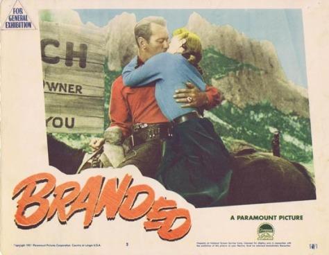 Branded (1950) lobby card