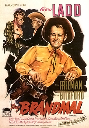 Branded (1950) theatrical poster. Alan Ladd.