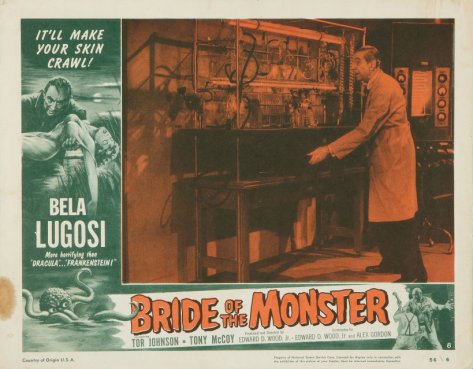 Bride Of The Monster (1955 ED WOOD) lobby card. Bela Lugosi