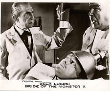 BRIDE OF THE MONSTER (ED WOOD) Bela Lugois, Tor Johnson. lobby card
