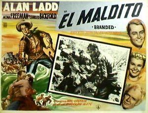 Btanded (1950) lobby card. Alan Ladd Mona Freeman