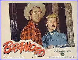 Btanded (1950) lobby card. Alan Ladd, Mona Freeman