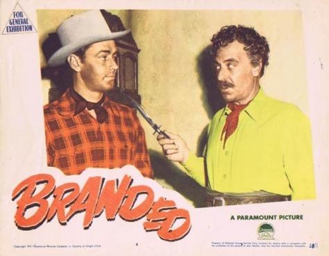 Btanded (1950) lobby card.