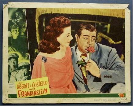Bud Abbott & Lou Costello Meet Frankenstein (1948) Lenore Aubert and Lou Costello lobby card