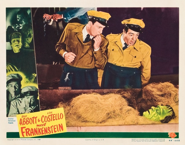 Bud Abbott & Lou Costello Meet Frankenstein (1948) lobby card