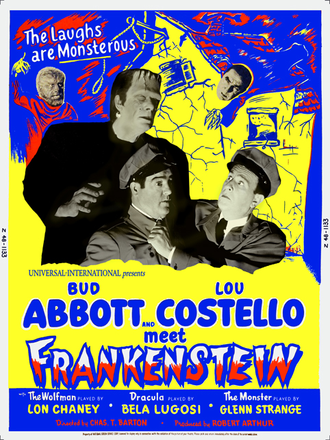 Bud Abbott & Lou Costello Meet Frankenstein (1948) poster