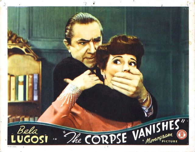 CORPSE VANISHES (1942) lobby card. Bela Lugosi