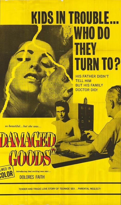 DAMAGED GOODS 1961 poster