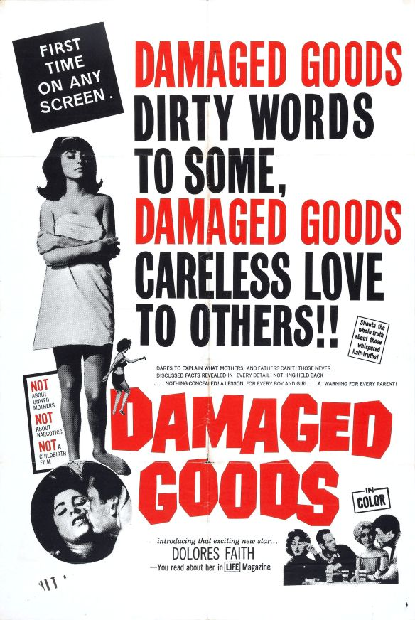 DAMAGED GOODS (1961) THEATRICAL POSTER