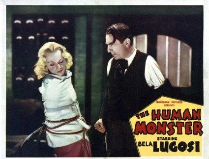 DARK EYES OF LONDON aka The Human Monster (1939) lobby card. Bela Lugosi