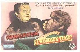 FRANKENSTEIN MEETS THE WOLFMAN (1942) lobby card. Bela Lugosi, Lon Chaney
