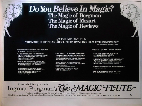 Ingmar Bergman The Magic Flute advertisement