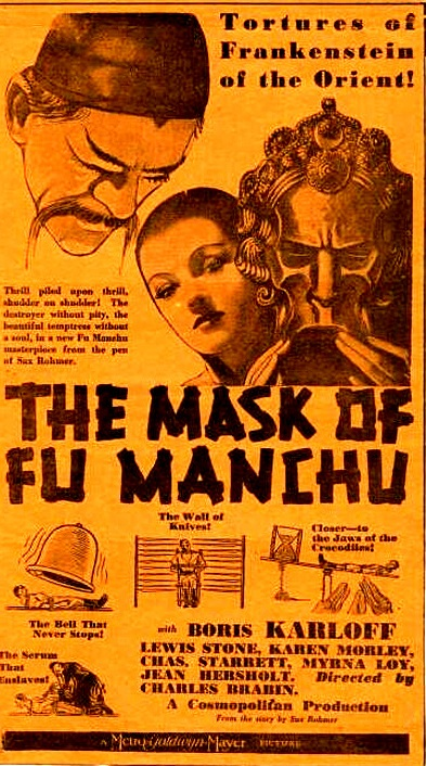 MASK OF FU MANCH (1932) BORIS KARLOFF, MYRNA LOY