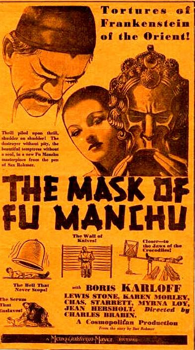 MASK OF FU MANCH (1932) BORIS KARLOFF, MYRNA LOY
