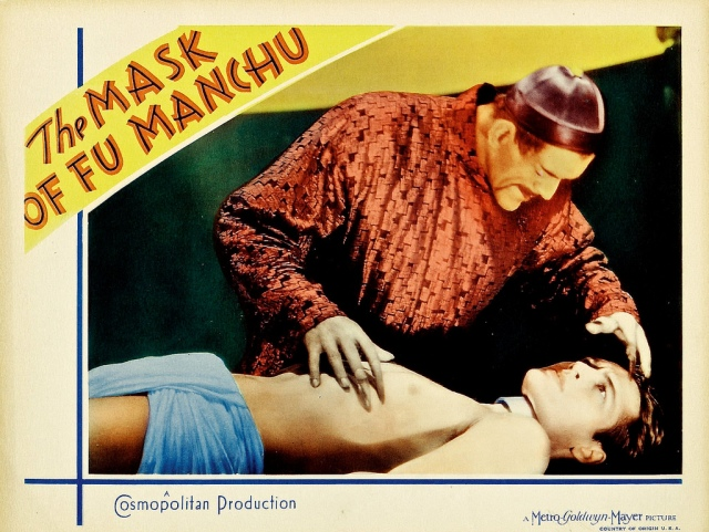 MASK OF FU MANCHU (1932) lobby card. Boris Karloff
