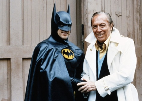 Michael Keaton and Batman's creator Bob Kane