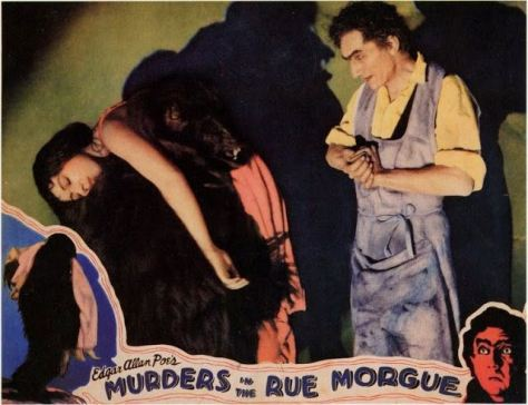 MURDERS IN THE RUE MORGUE (1932) lobby card. Bela Lugosi