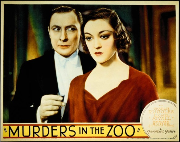 MURDERS IN THE ZOO (1933) lobby card. Lionel Atwill, Kathleen Burke