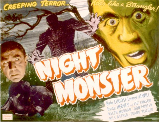 NIGHT MONSTER (1942) lobby card Bela Lugosi