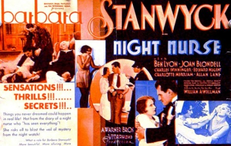 NIGHT NURSE (1931) Barbara Stanwyck, Joan Blondell