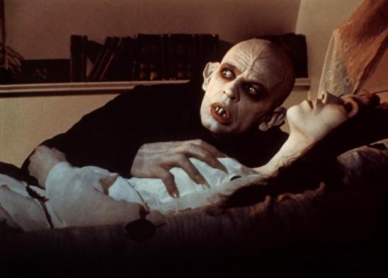 Nosferatu, the Vampyre (1979) screenshot. Klaus Kinski and Isabelle Adjani