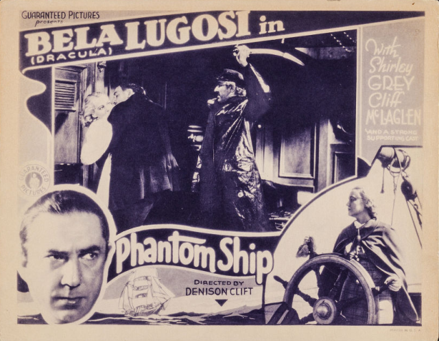PHANTOM SHIP. Lobby card. Bela Lugosi