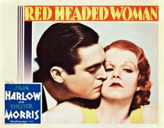 Red Headed Woman (1932) Jean Harlow Chester Morris. lobby card