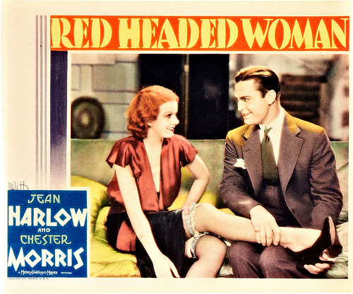 Red Headed Woman (1932) Jean Harlow. lobby card