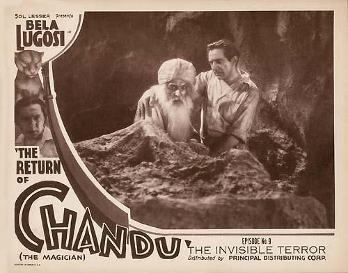 RETURN OF CHANDU (1934) lobby card. Bela Lugosi.