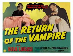 RETURN OF THE VAMPIRE (1943) lobby card. Bela Lugosi