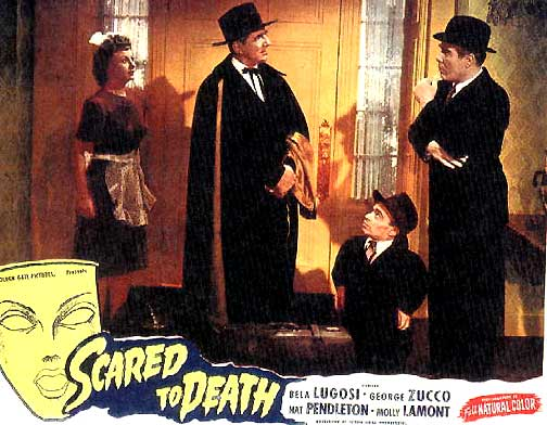 SCARED TO DEATH (1947) Bela Lugosi lobby card