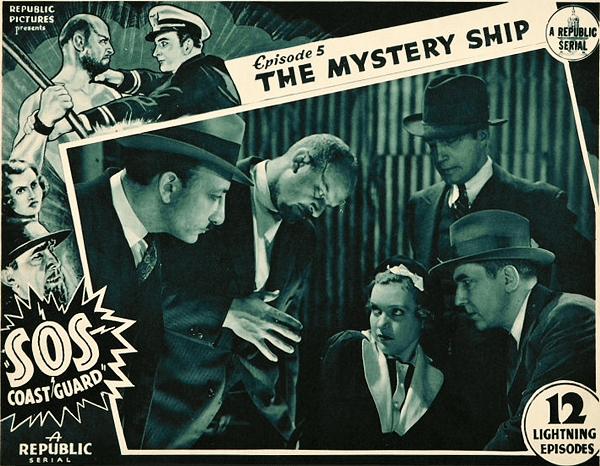 SOS COASTGUARD (1937) lobby card. Bela Lugosi