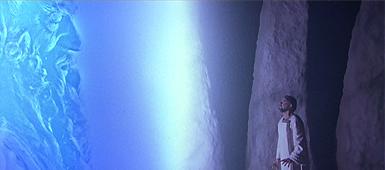 STAR TREK V- THE FINAL FRONTIER (1989) God and Laurence Luckenbill