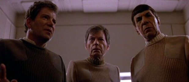 STAR TREK V- THE FINAL FRONTIER (1989) William Shatner, De Forest Kelly, Leonard Nimoy