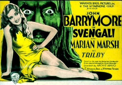 Svengali (1931) poster. John Barrymore.