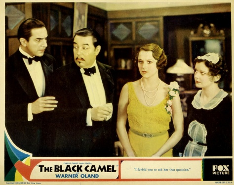 THE BLACK CAMEL (1931) Bela Lugosi, Warner Oland. lobby card