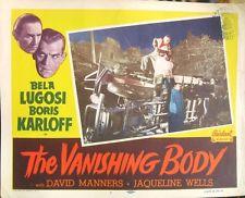 THE BLACK CAT (1934 DIR. ULMER) Lobby card. Karloff & Lugosi