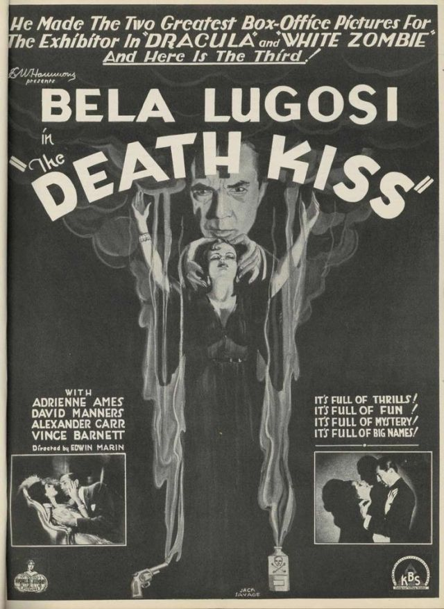 THE DEATH KISS (1932) Bela Lugosi