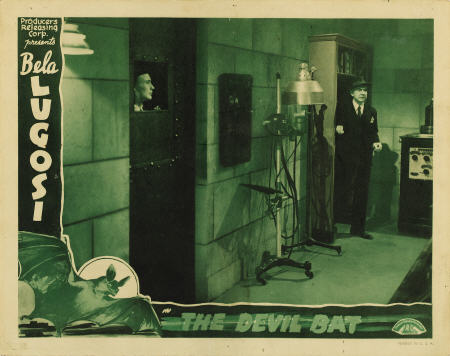 THE DEVIL BAT (1940) lobby card. Bela Lugosi.