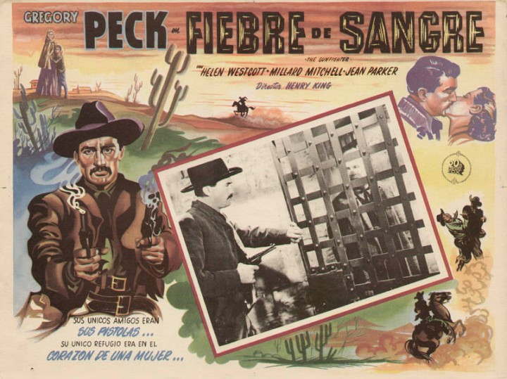 The Gunfighter (1950) Gregory Peck. theatrical poster
