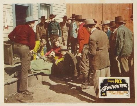 The Gunfighter (1950) lobby card.