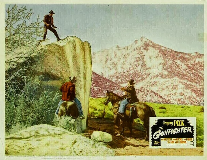 The Gunfighter (1950) lobby card.