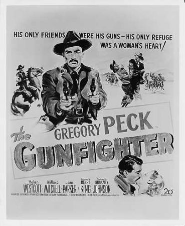 The Gunfighter 1950 theatrical poster