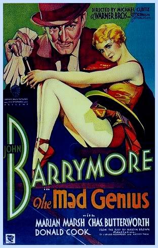 THE MAD GENIUS (1931 DIR. CURTIZ) John Barrymore, Marian Marsh. Poster