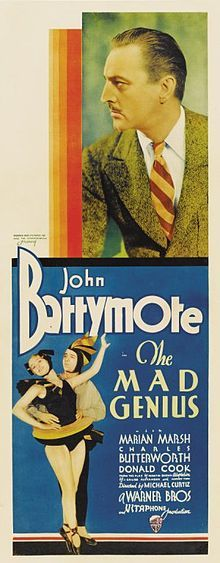 THE MAD GENIUS (1931 DIR. CURTIZ) John Barrymore. poster
