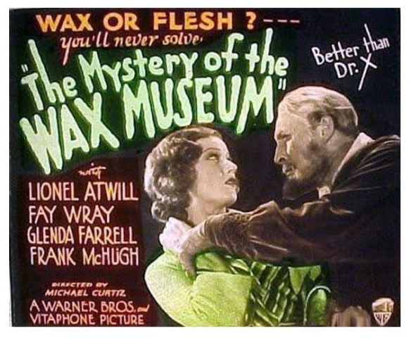The Mystery Of The Wax Museum (1933 Curtiz) Lionel Atwill, Fay Wray.