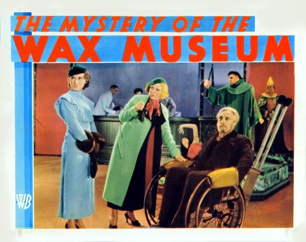 The Mystery Of The Wax Museum (1933) Fay Wray, Glenda Farrell, Lionel Atwill. lobby card