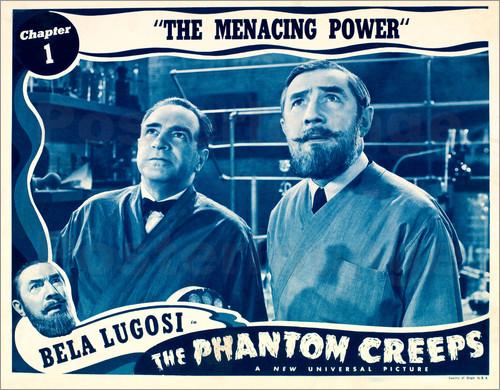 THE PHANOTM CREEPS. US Lobby card. Bela Lugosi