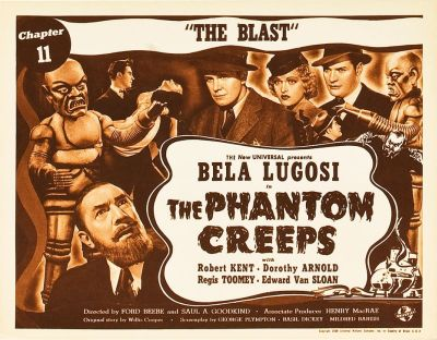 THE PHANTOM CREEPS (1939) lobby card. Bela Lugosi